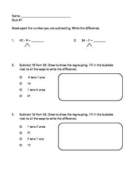 Go Math Chapter 5 Quizzes - 2nd Grade