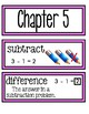 Go Math Chapter 5 Second Grade Vocabulary Cards