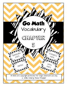 Go Math Chapter 5 Vocabulary