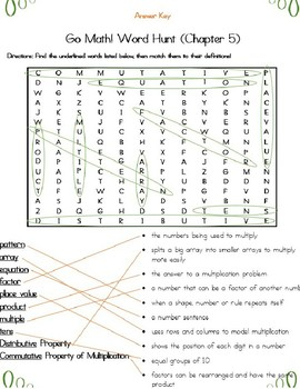 Multiplication Facts Word Search (Grade 3) Common Core