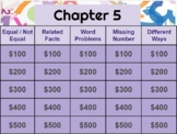 Go Math! Chapter 5 jeopardy review game  (Google slides)