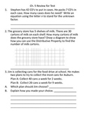 Go Math - Chapter 5 review for test - Third Grade