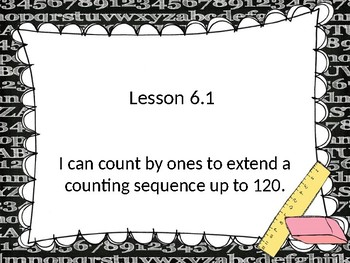 Go Math! Chapter 6 Count and Model Numbers - First Grade