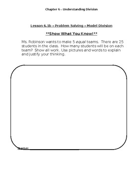 Go Math Chapter 6 Differentiated Resources