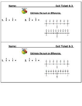 Go Math Chapter 6 Exit Slips/Quizzes/Quick Checks