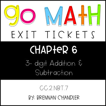 Go Math Chapter 6 Exit Tickets