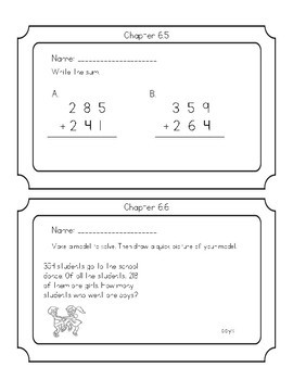 Go Math Chapter 6 Exit Tickets Grade 2
