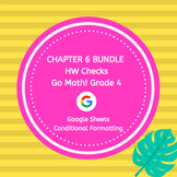 Go Math Grade 4 Chapter 6 Homework Google Sheets Bundle