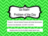 Go Math! Chapter 6 Problem of the Day, 5th Grade- SMART Board