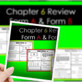 "Chapter 6 Review ""Go Math"" Form: B Included"