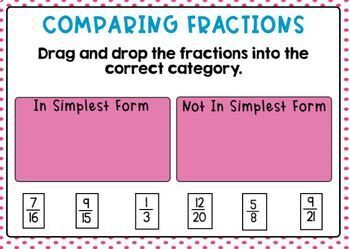 Go Math Chapter 6 Review: Fraction Equivalence and Comparison