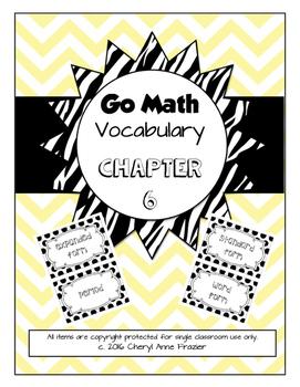 Go Math Chapter 6 Vocabulary