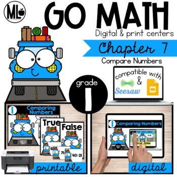 First Grade Math Centers, Compare Numbers, Chapter 7