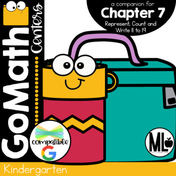 Go Math-Kinder Math Centers, Represent, Count and Write 11-19, Ch.7
