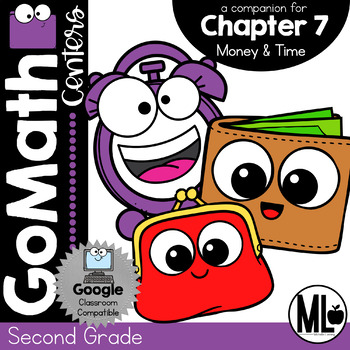 Second Grade Math Centers, Money and Time, Chapter 7