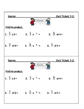 Go Math Chapter 7 Exit Slips/Quizzes/Quick Checks