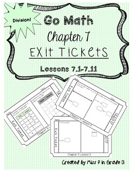 Go Math Chapter 7- Exit Tickets *Division*