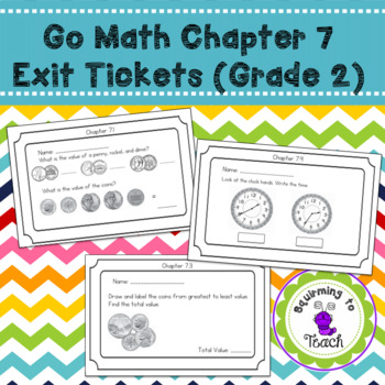 Go Math Chapter 7 Exit Tickets Grade 2
