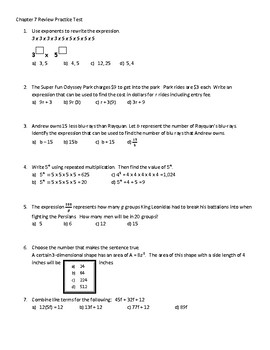 Go Math! Chapter 7 Extra Test for Grade 6 for either Retake or Extra  Practice!