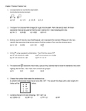 Go Math! Chapter 7 Extra Test for Grade 6 for either Retak