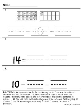 Go Math Chapter 7 Review Test: Kindergarten by Kathryn's ...