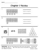 Go Math Chapter 7 Review Test: Kindergarten