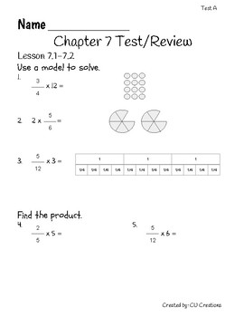 Go Math! Chapter 7 Test/Review with Answer Key by CU ...