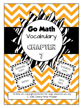 Go Math Chapter 7 Vocabulary