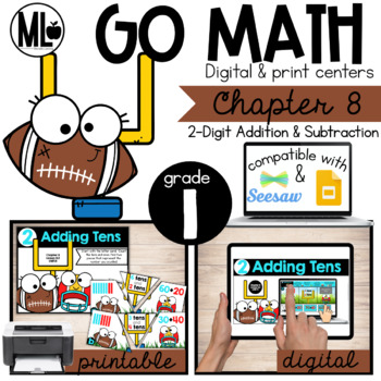 GoMath -First Grade Math Centers,Two Digit Addition and Subtraction, Chapter 8