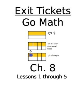 Go math chapter 8 test teaching resources teachers pay teachers go math chapter 8 exit slipsquizzesquick checks fandeluxe Image collections