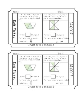 Go Math Chapter 8- Exit Tickets *Fractions*