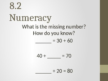 Go Math! Chapter 8 Numeracy Development - First Grade