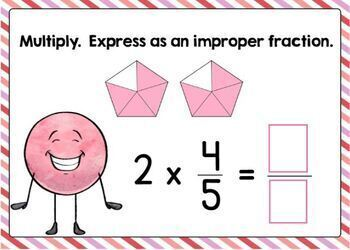 Go Math Chapter 8 Review Boom Cards: Multiply Fractions and Whole Numbers