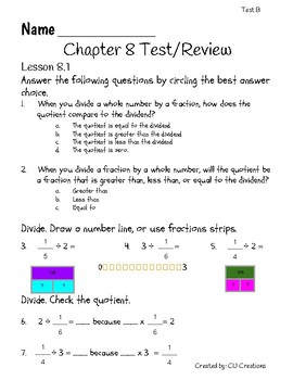 Go Math Grade 3 Chapter 8 Review Test Answers