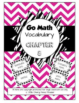 Go Math Chapter 8 Vocabulary