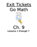 Go Math Chapter 9 Exit Slips/Quizzes/Quick Checks