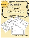 Go Math Chapter 9- Exit Tickets *Comparing Fractions*