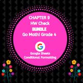 Distance Learning Go Math Grade 4 Chapter 9 Homework Google Sheets Bundle