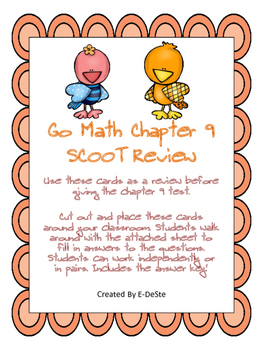 Go Math Chapter 9 Review SCOOT