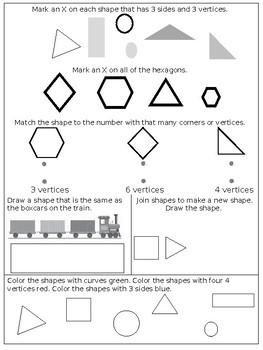 Math Chapter 9 Review Sheet Kindergarten By Kindergarten Kids Tpt