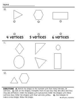 Go Math Chapter 9 Review Test: Kindergarten by Kathryn's ...