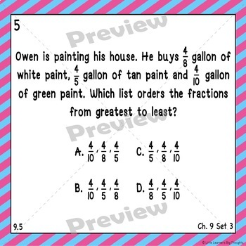 Go Math Chapter 9 Task Cards Grade 3