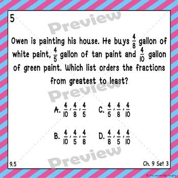 Go Math Chapter 9 Task Cards Grade 3