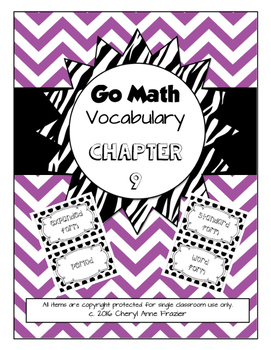 Go Math Chapter 9 Vocabulary