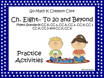 Go Math Chapter Eight K Activity Sheets