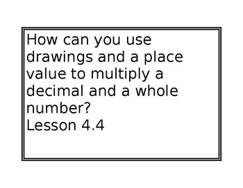 Go Math Chapter Essential Questions for Chapter 4 5th grade