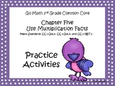 Go Math Chapter Five Grade 3 Activity Sheets