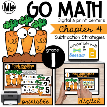 GoMath-First Grade Math Centers, Subtraction Strategies, Chapter 4