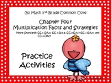 Go Math Chapter Four Grade 3 Activity Sheets