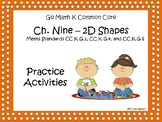 Go Math Chapter Nine K Activity Sheets